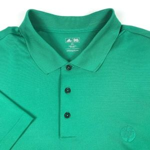 Adidas Green HP Performance Employee Golf Polo XXL